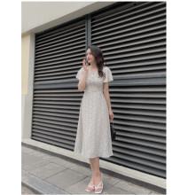 Váy Xòe Tay Cánh Tiên Một Hàng Cúc GV034 - Genni